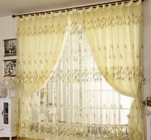 rèm cửa màu vàng