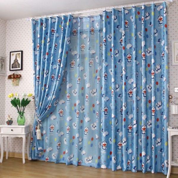 rèm của phòng cho bé trai doremon