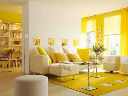 rèm cửa màu vàng chanh